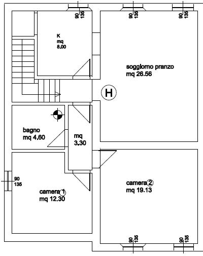 Planimetria 1/1 per rif. P/0136