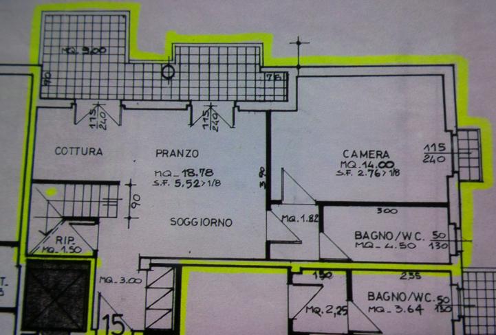 Planimetria 1/2 per rif. P/0138