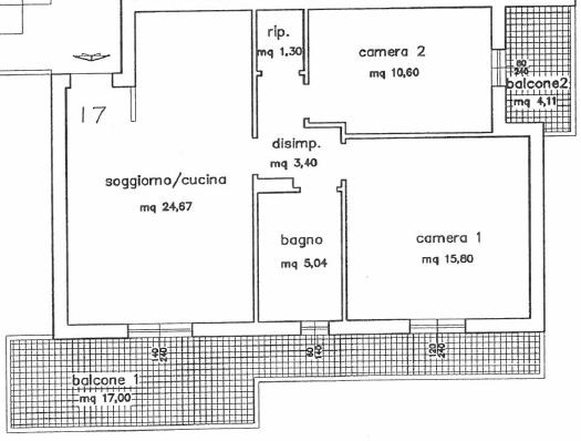 Planimetria 1/2 per rif. P/0140