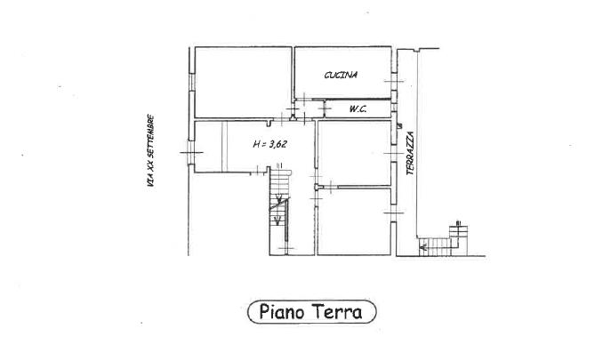 Planimetria 1/4 per rif. P/0143