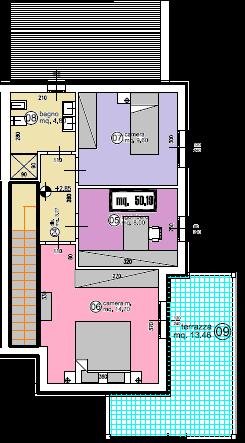 Villetta a schiera angolare in vendita, rif. F/0326 (Planimetria 2/2)