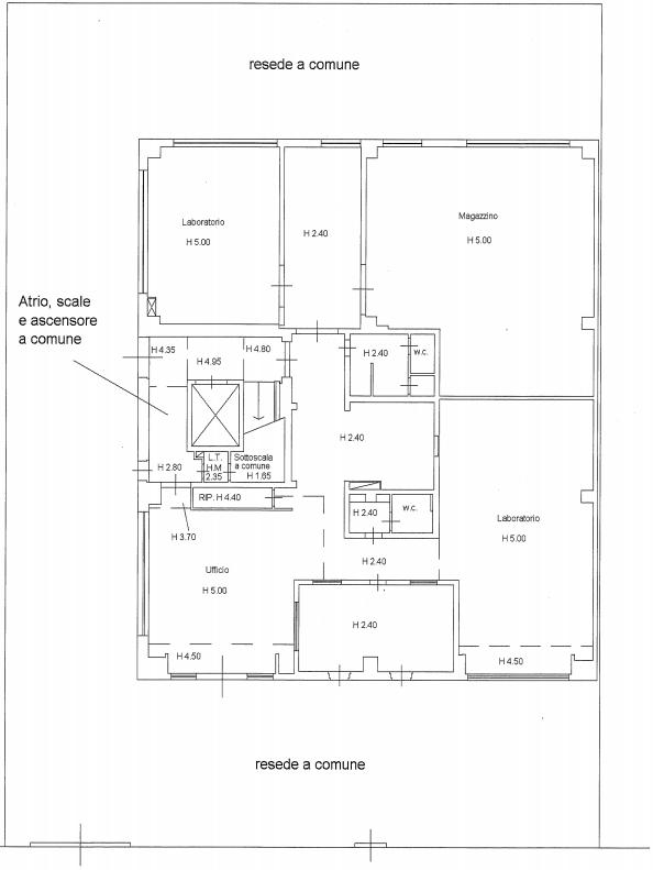 Planimetria 1/4 per rif. F/0292