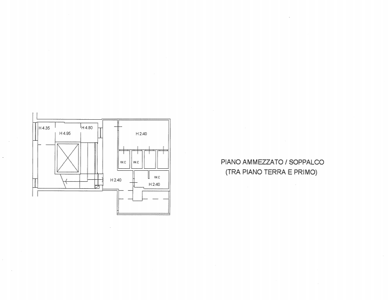 Planimetria 3/4 per rif. F/0292