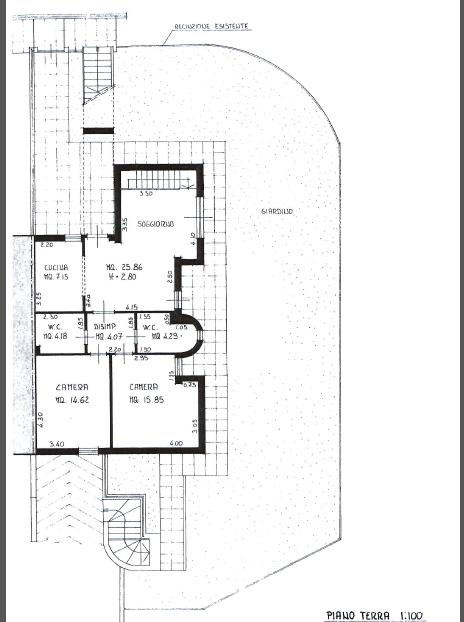 Planimetria 1/2 per rif. P/0149