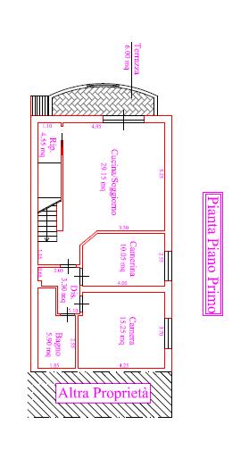 Planimetria 1/2 per rif. P/0151