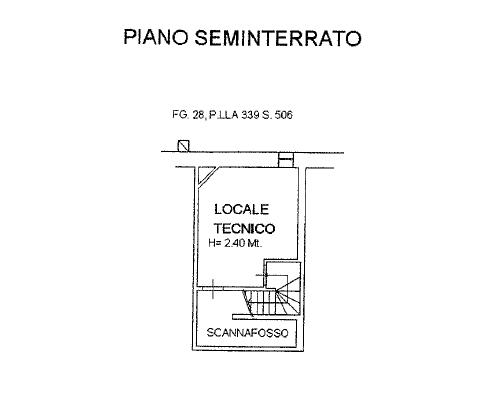 Planimetria 4/4 per rif. P/0153