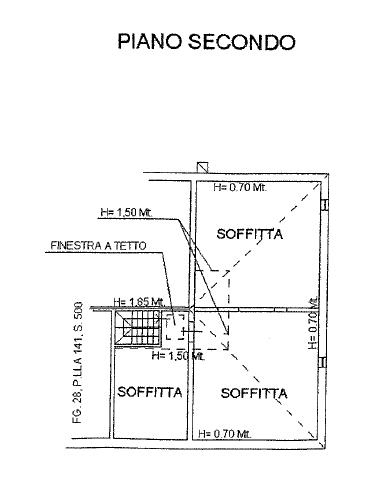 Planimetria 3/4 per rif. P/0153