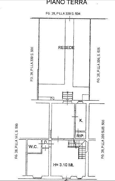 Planimetria 1/4 per rif. P/0153