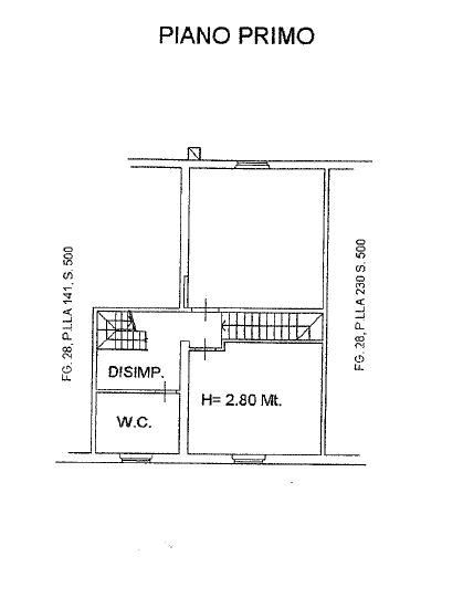 Planimetria 2/4 per rif. P/0153