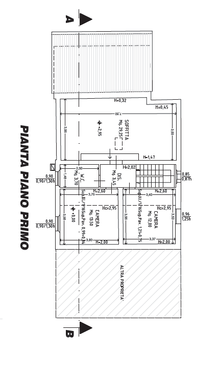 Planimetria 2/6 per rif. P/0155
