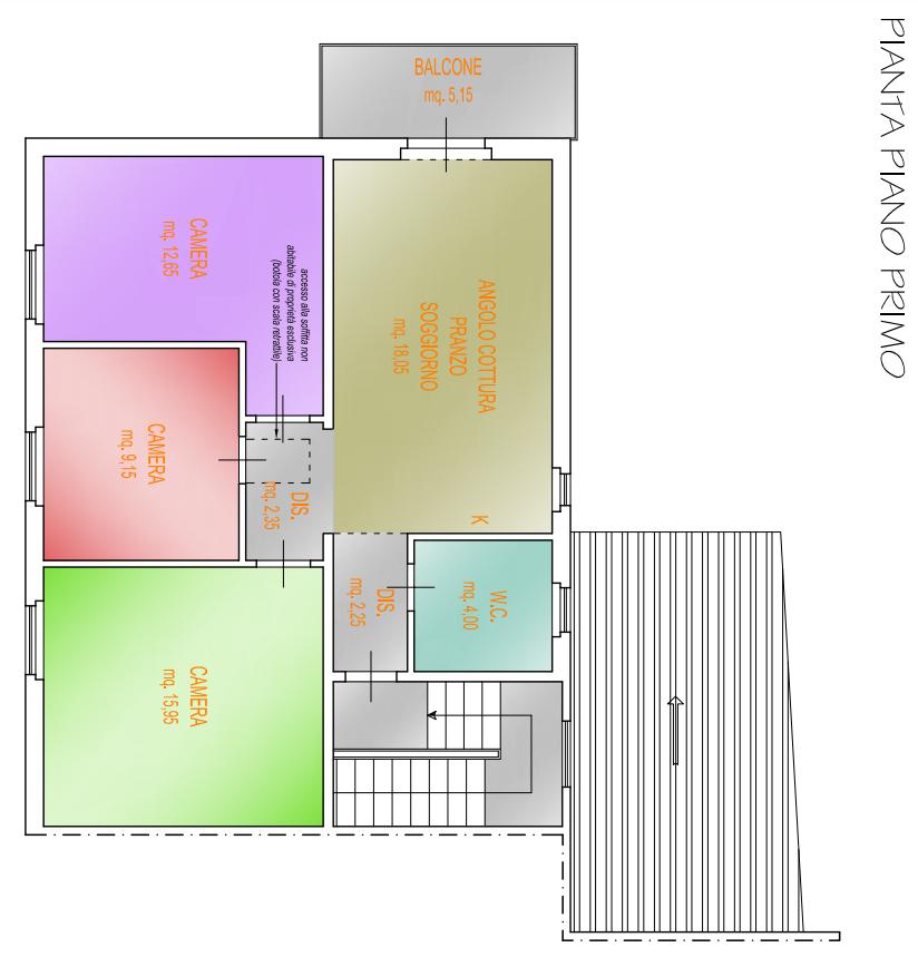 Planimetria 1/2 per rif. F/0314