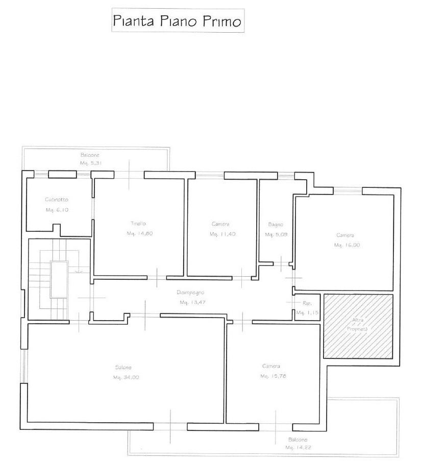 Planimetria 1/1 per rif. M/0257