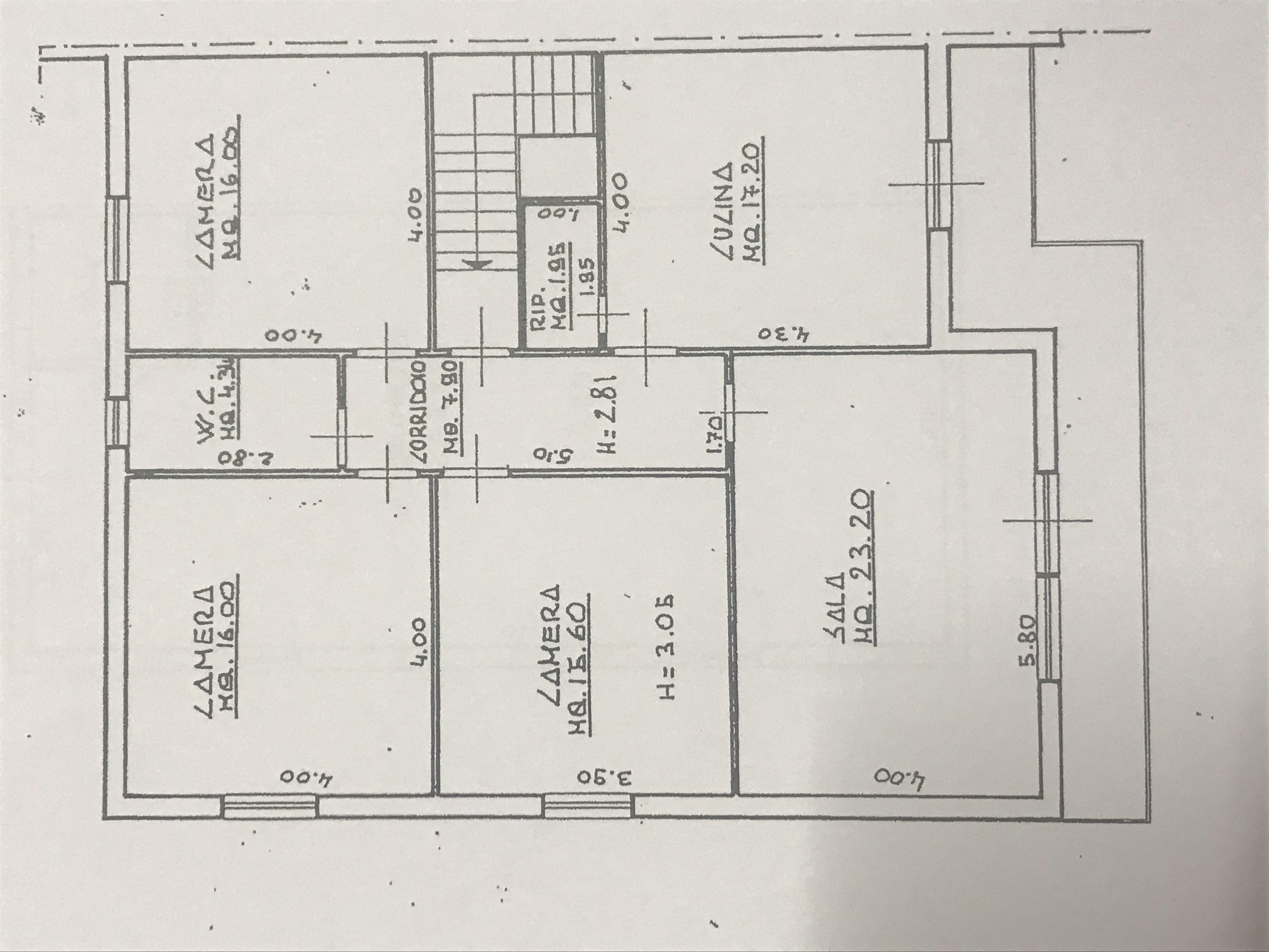 Planimetria 1/2 per rif. M/0260