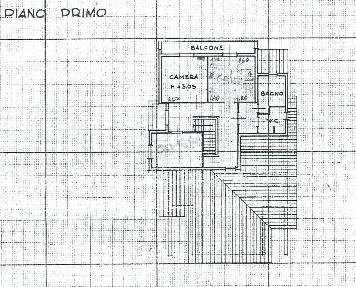 Villa singola in vendita, rif. P/0177 (Planimetria 2/3)