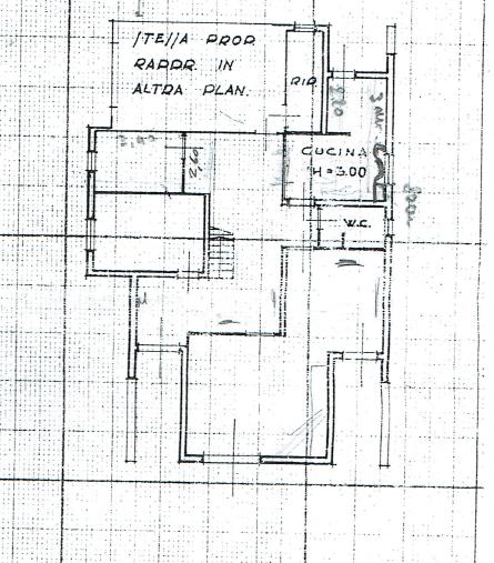 Villa singola in vendita, rif. P/0177 (Planimetria 1/3)