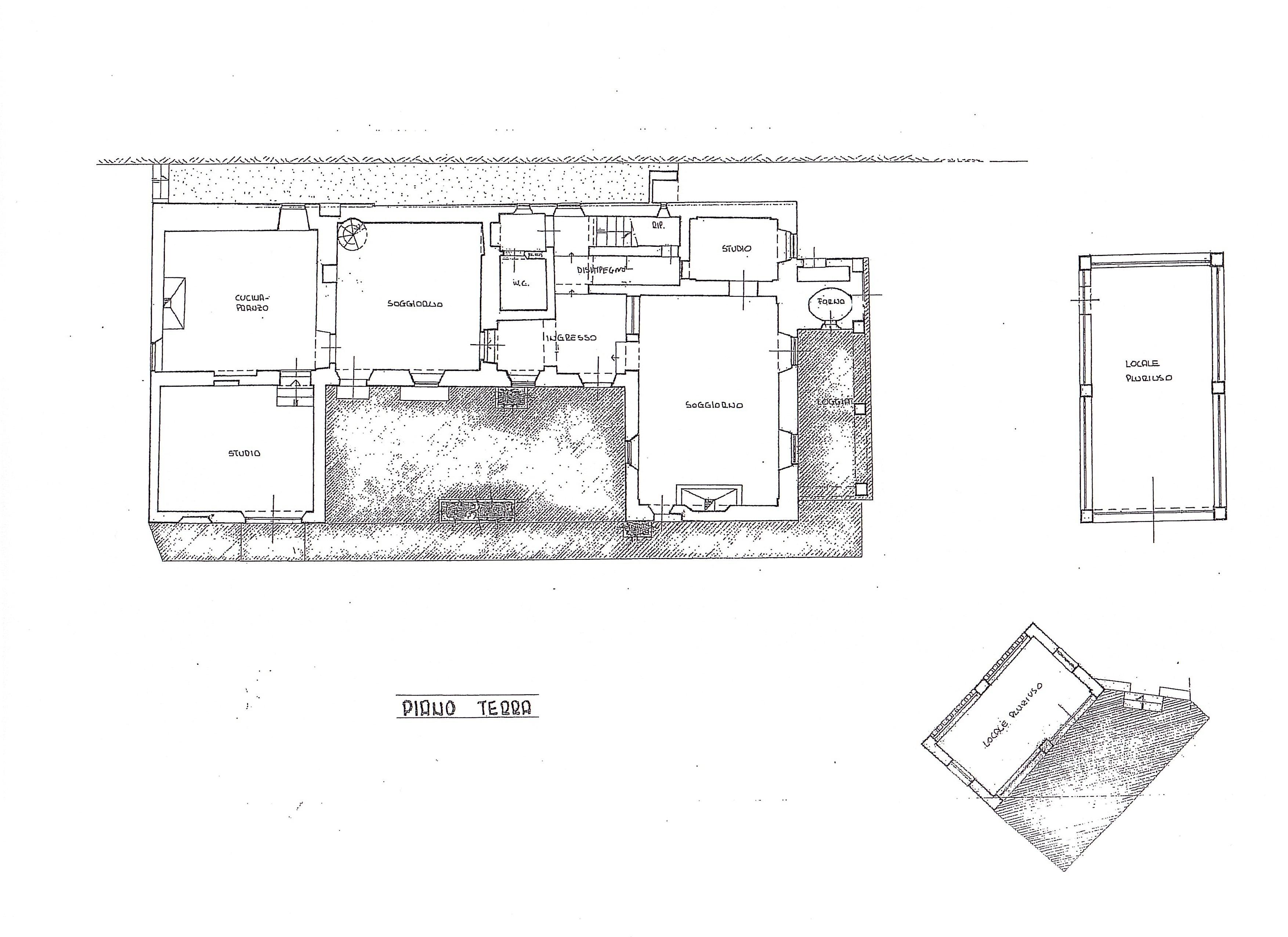Casale in vendita, rif. B/0215 (Planimetria 1/2)