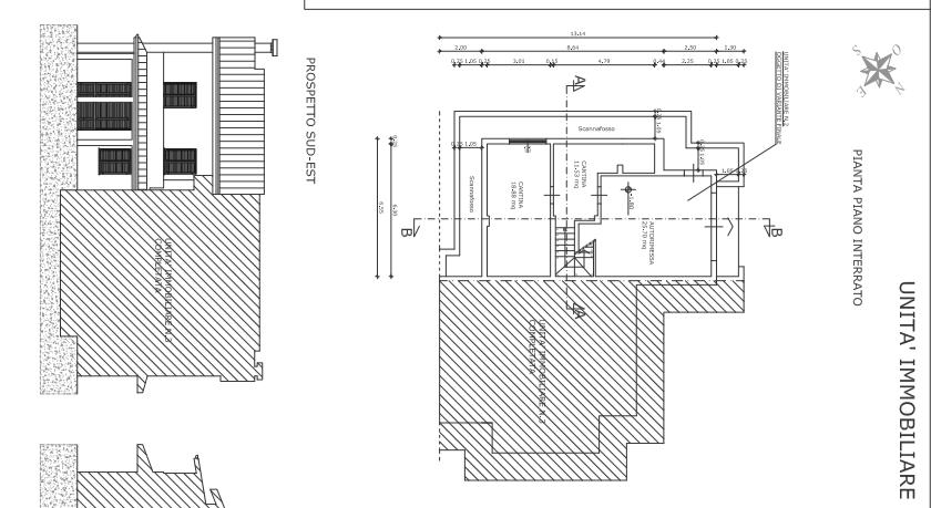 Villetta a schiera angolare in vendita, rif. F/0329 (Planimetria 1/4)