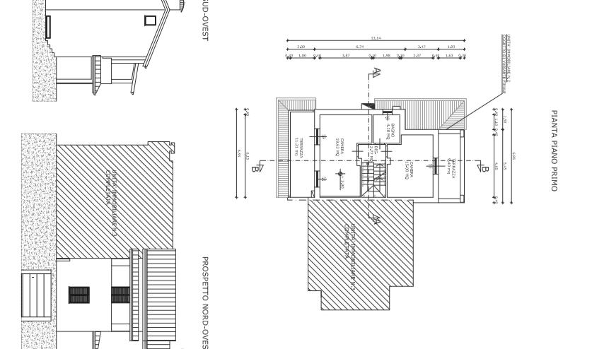 Villetta a schiera angolare in vendita, rif. F/0329 (Planimetria 3/4)