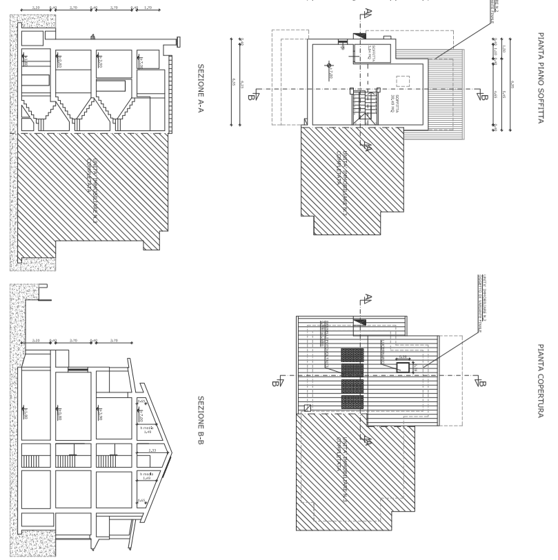 Villetta a schiera angolare in vendita, rif. F/0329 (Planimetria 4/4)