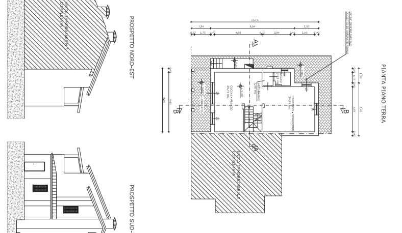 Villetta a schiera angolare in vendita, rif. F/0329 (Planimetria 2/4)