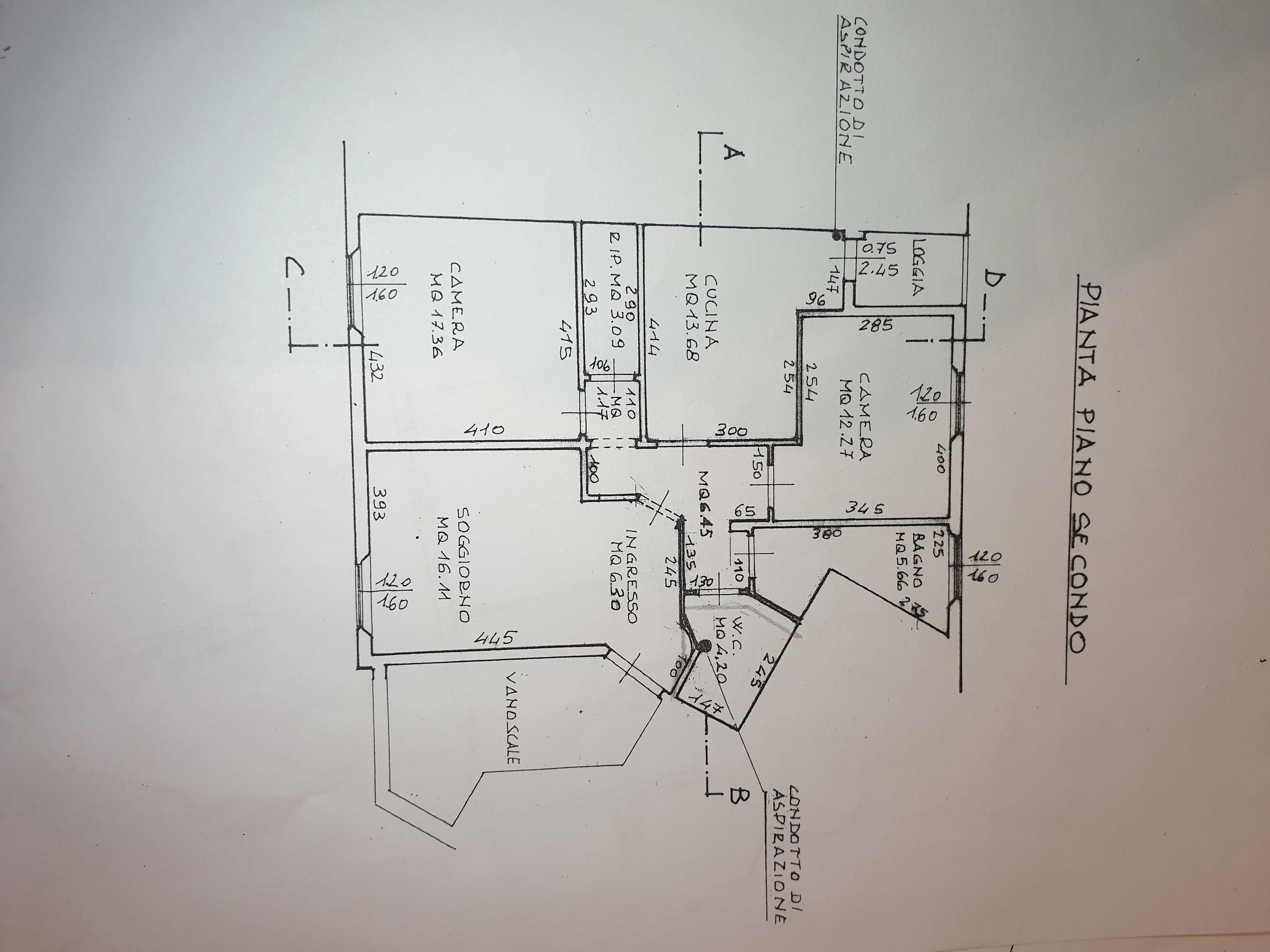 Appartamento in vendita, rif. M/0275 (Planimetria 1/1)