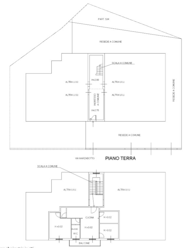 Planimetria 1/2 per rif. F/0334