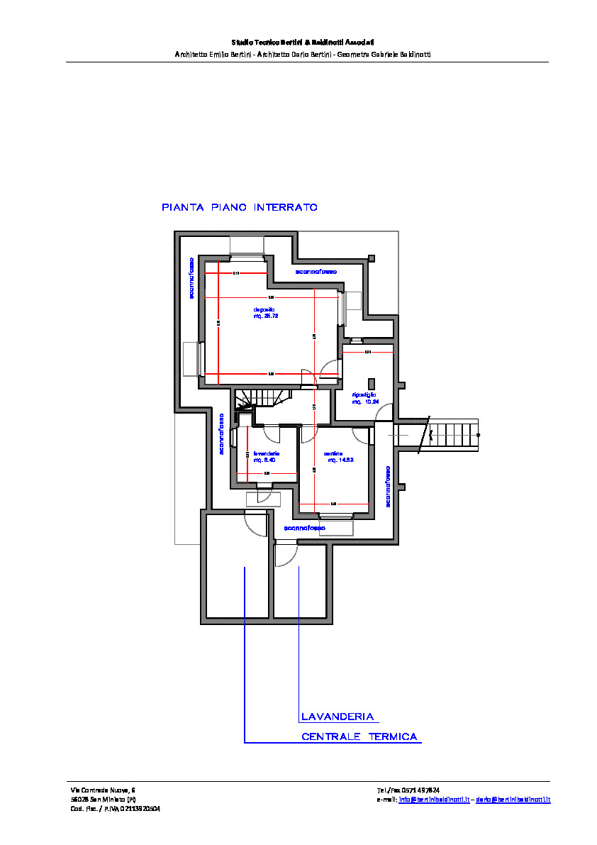 Planimetria 1/6 per rif. P/0165