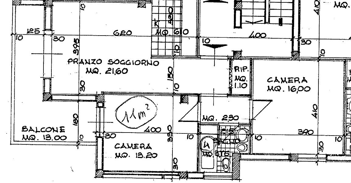 Planimetria 1/2 per rif. B/0234