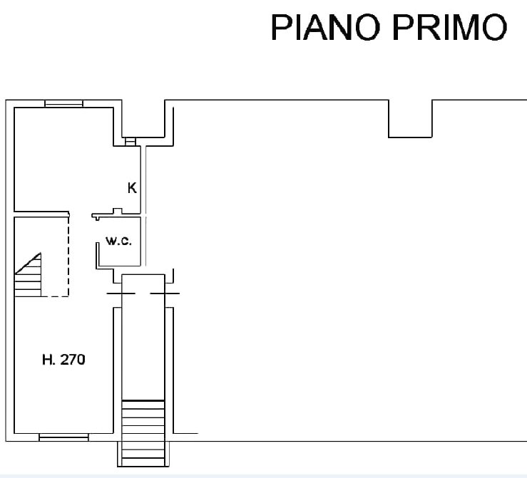 Planimetria 1/4 per rif. B/0235