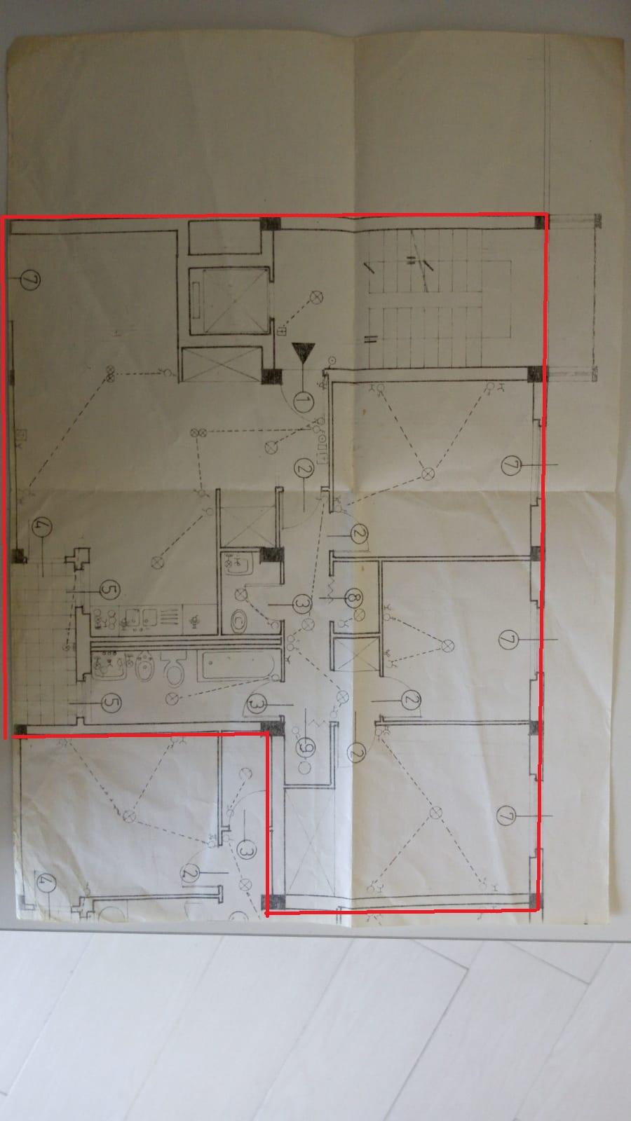 Appartamento in vendita, rif. F/0349 (Planimetria 1/1)