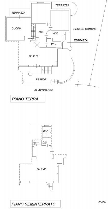 Casa semindipendente in vendita, rif. F/0353 (Planimetria 1/1)
