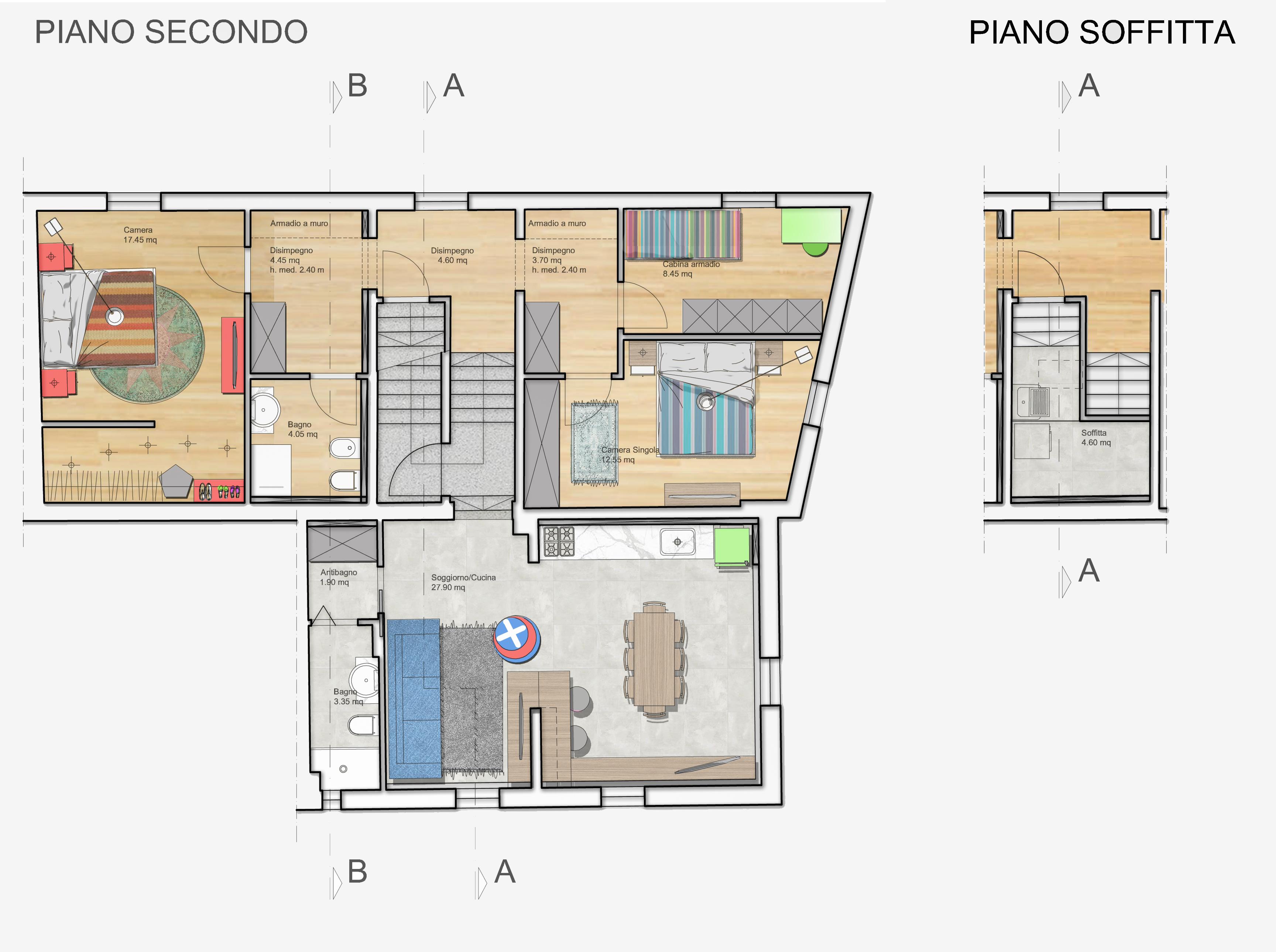 Appartamento in vendita, rif. F/0360 (Planimetria 1/3)