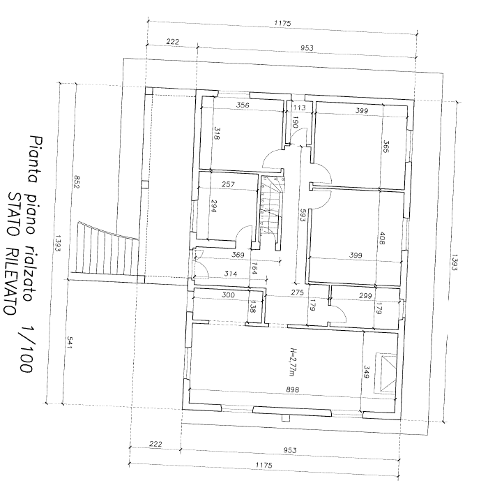 Planimetria 1/3 per rif. F/0362
