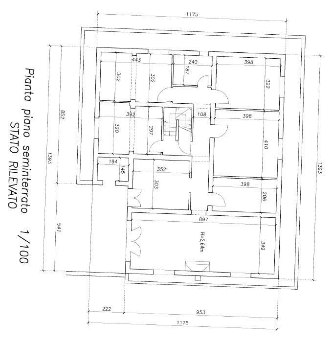 Planimetria 2/3 per rif. F/0362