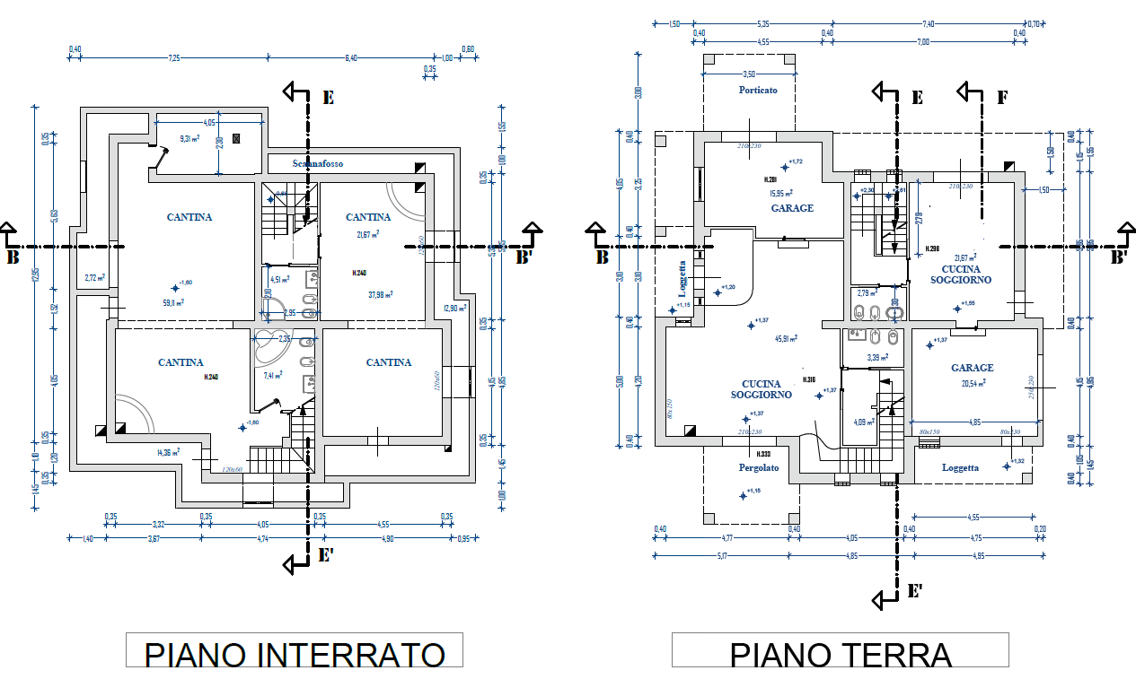 Planimetria 1/2 per rif. M/0294