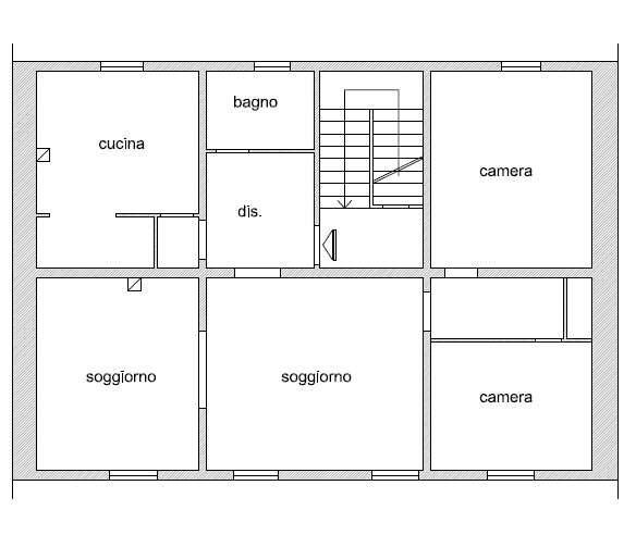 Planimetria 1/1 per rif. P/0172