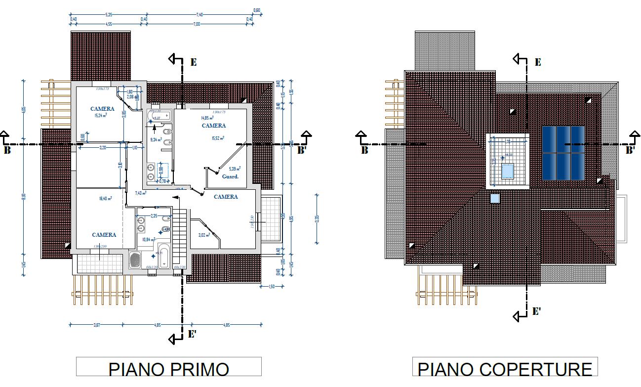 Villa singola in vendita, rif. F/0370 (Planimetria 2/2)