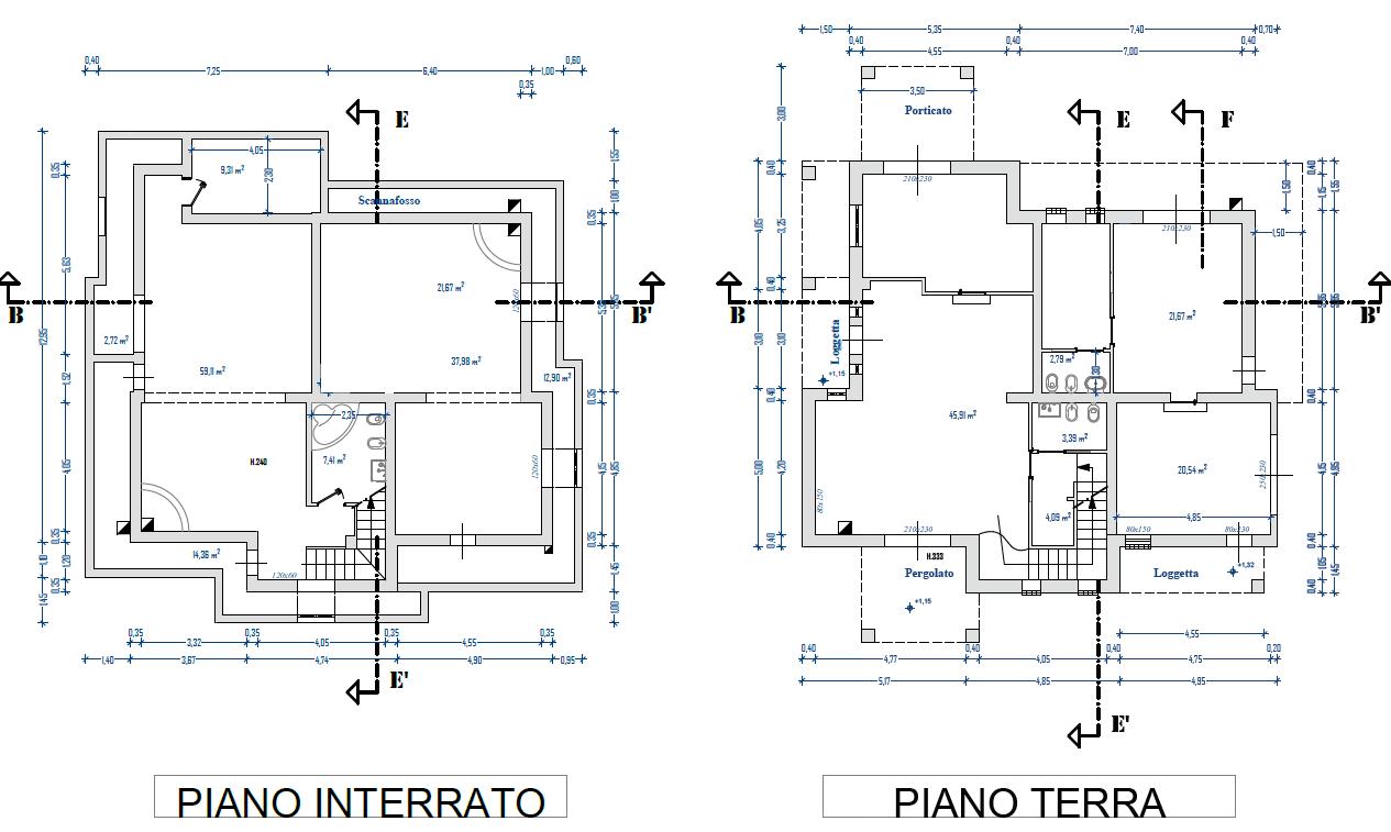 Villa singola in vendita, rif. F/0370 (Planimetria 1/2)