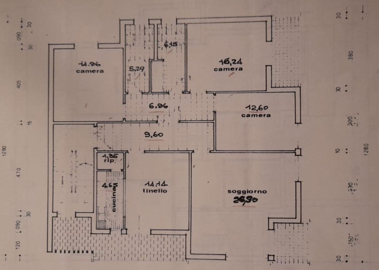 Planimetria 1/2 per rif. M/0297