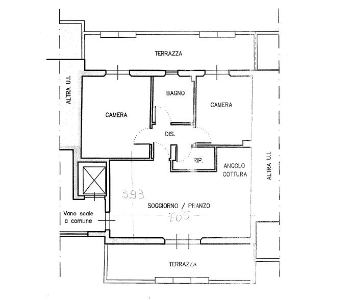 Planimetria 1/2 per rif. P/0173
