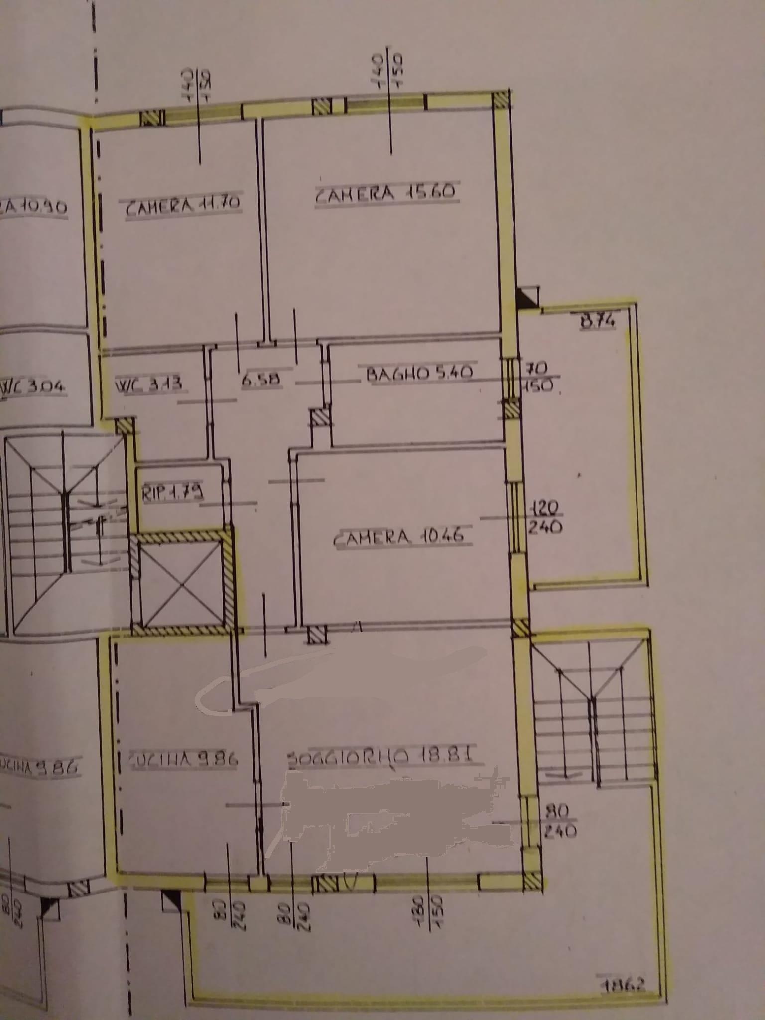 Appartamento in vendita, rif. F/0375 (Planimetria 1/1)
