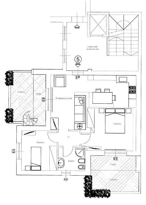 Attico in vendita, rif. F/0379 (Planimetria 1/2)