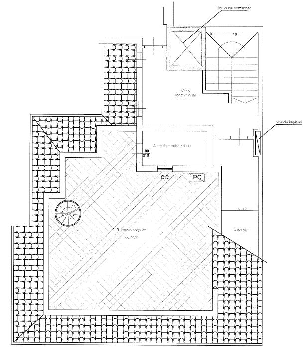 Attico in vendita, rif. F/0379 (Planimetria 2/2)