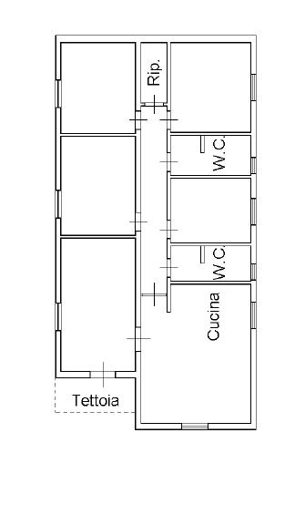 Villa singola in vendita, rif. M/0304 (Planimetria 1/2)