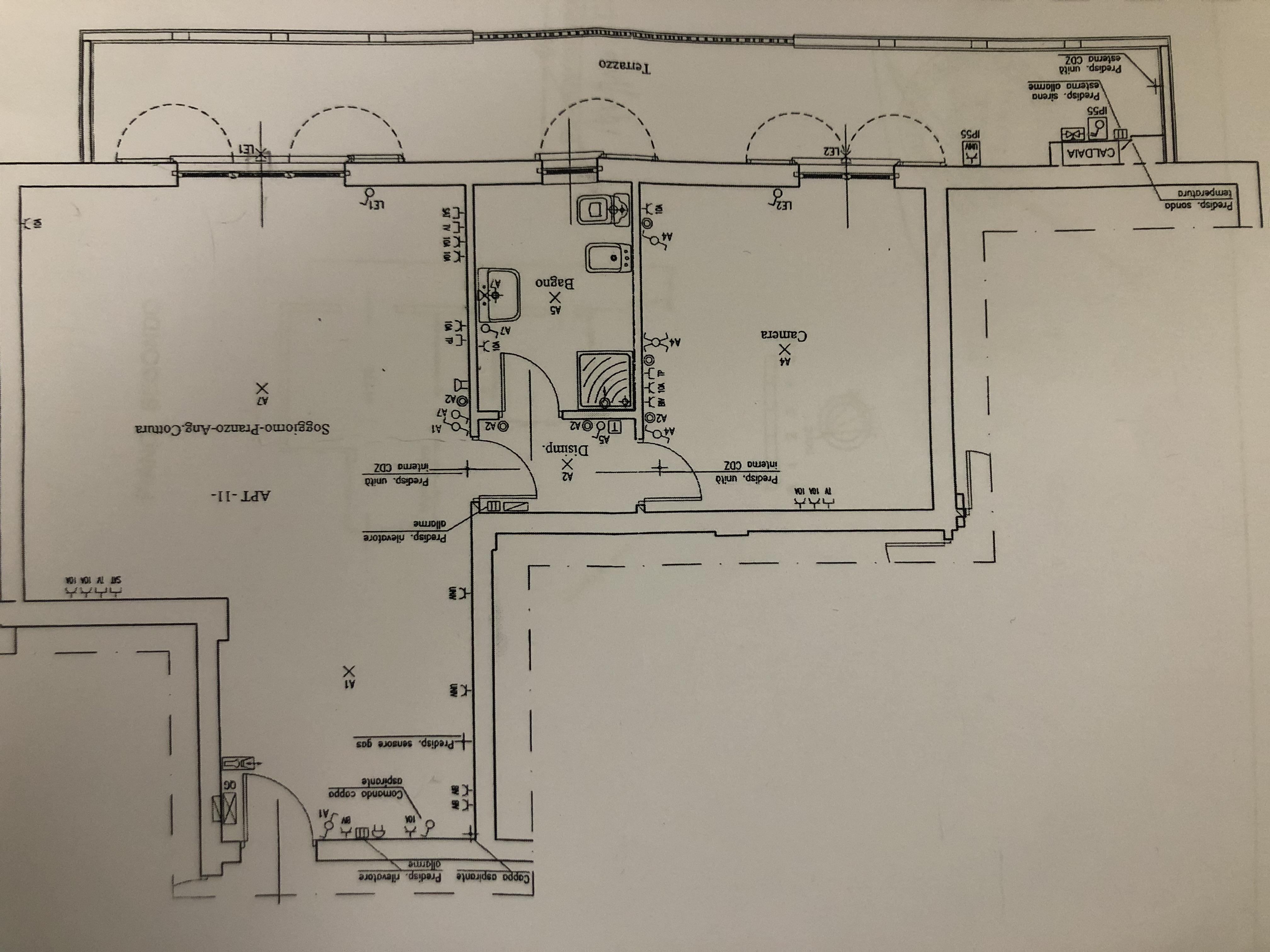 Planimetria 1/2 per rif. F/0386