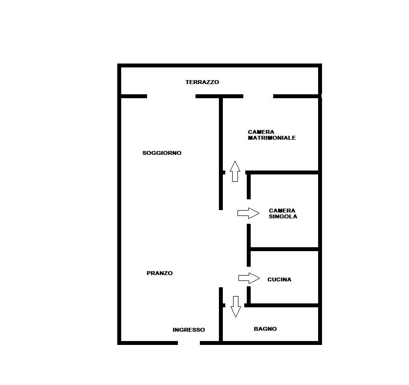 Appartamento in vendita, rif. F/0388 (Planimetria 1/1)