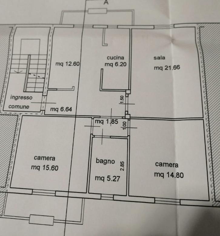 Appartamento in vendita, rif. B/0250 (Planimetria 1/1)