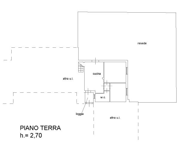 Appartamento in vendita, rif. F/0392 (Planimetria 1/2)