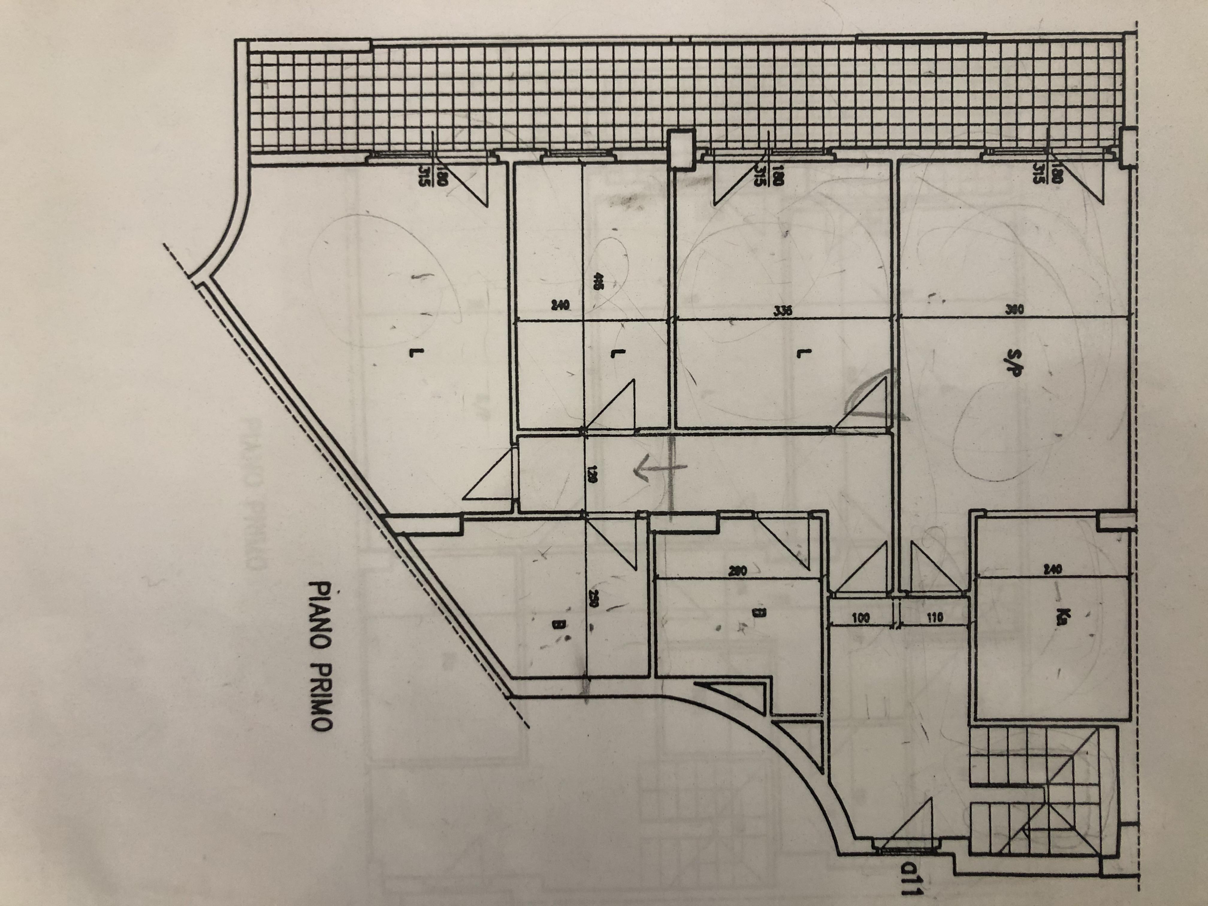 Appartamento in vendita, rif. F/0396 (Planimetria 1/2)