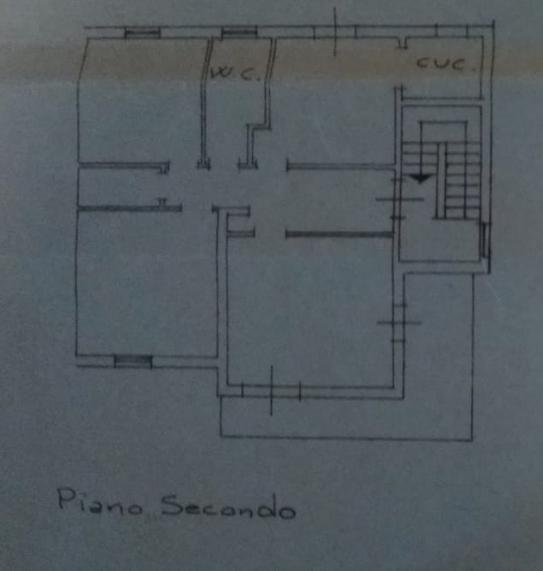 Casa semindipendente in vendita, rif. P/0178 (Planimetria 2/2)